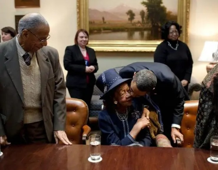 Dorothy Height with President Obama