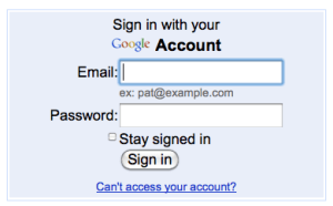 Step 1: Sign up for (or sign into) Google