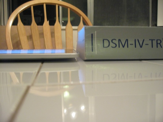 A second picture showing the size comparison of the DSM vs. iPad