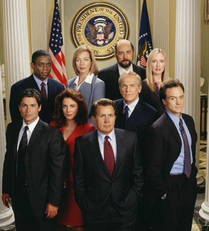 A picture of the cast of The West Wing