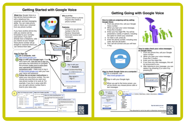Image for PDF (readable) handout of Google Voice for Clients