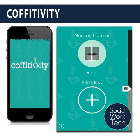 Screenshots of the Coffitivity App