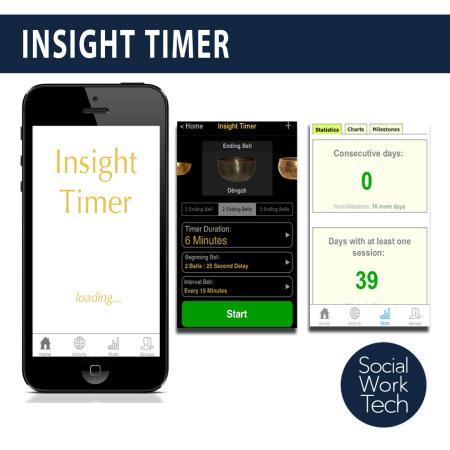 Screenshots of the Insight Timer App