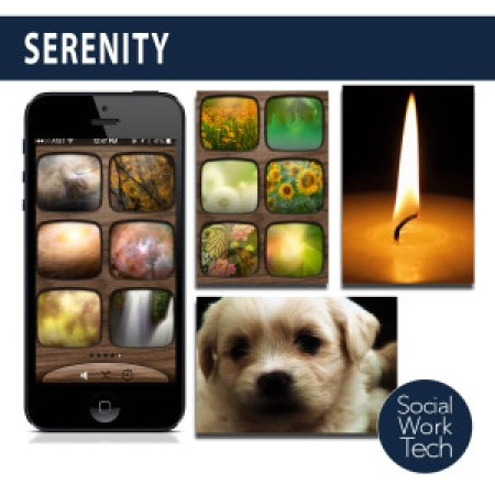 Screenshots of the Serenity App