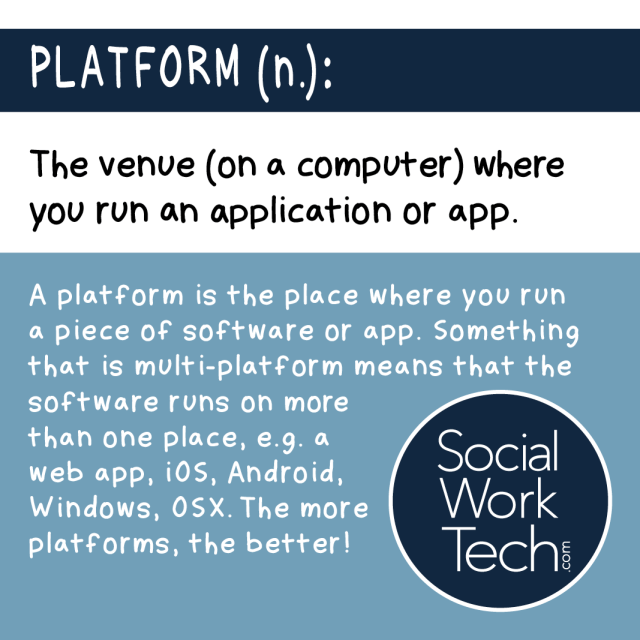 The venue (on a computer) where you run an application or an app.