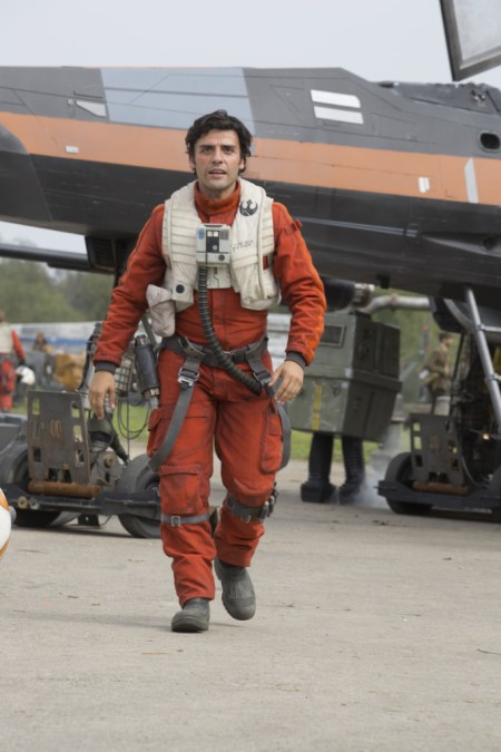 Star Wars: The Force Awakens..Poe Dameron (Oscar Isaac)..Ph: David James..?Lucasfilm 2015
