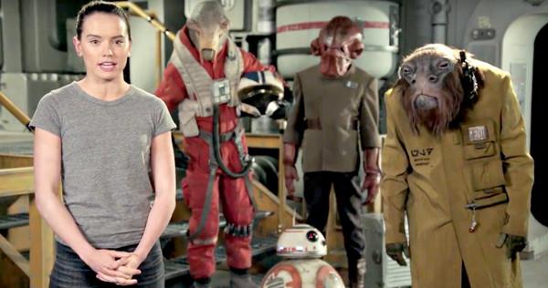 """Daisy Ridley deseja um feliz Star Wars Day e revela os aliens do """"Episódio VIII"""""""