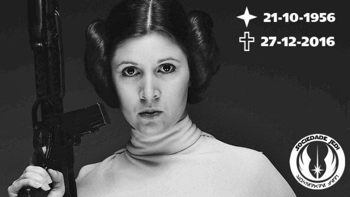 Luto | Amigos de Star Wars choram a morte de Carrie Fisher