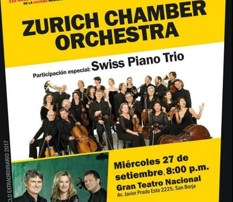 Zurich Chamber Orchestra se presenta por primera vez en nuestro país