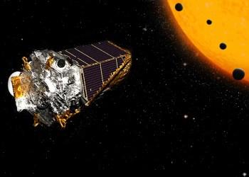 Concepção artística do Telescópio Espacial Kepler: um exímio caçador de exoplanetas. Crédtios: NASA/Ames Research Center/Wendy Stenzel