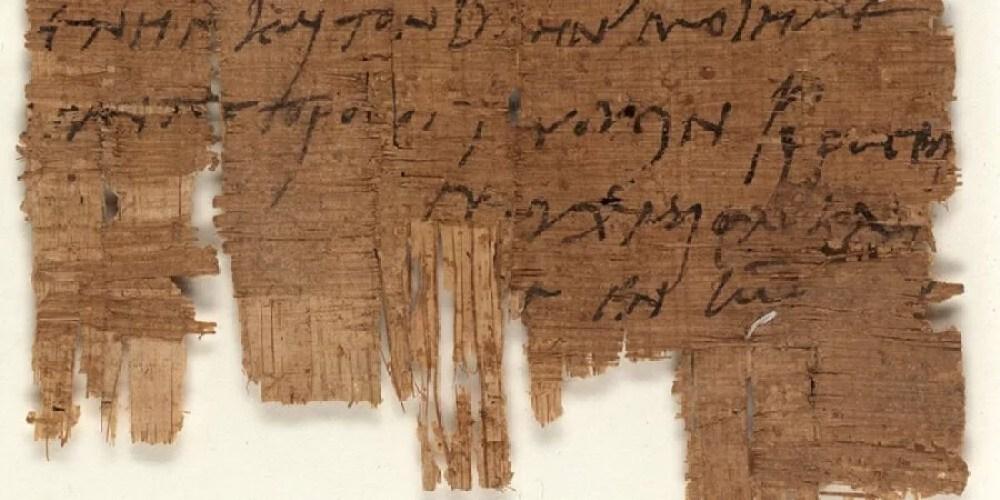 Carta cristã mais antiga do mundo encontrada em papiro egípcio do século III