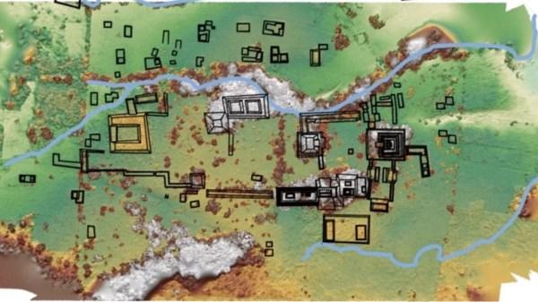 Vista aérea do recém descoberto antigo reino maia de Sak Tz'i '. (Crédito de imagem: Charles Golden)