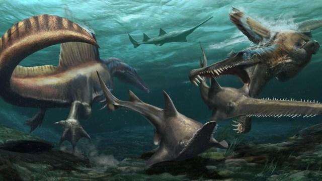 Espinossauro foi o primeiro dinossauro a nadar, mostra estudo