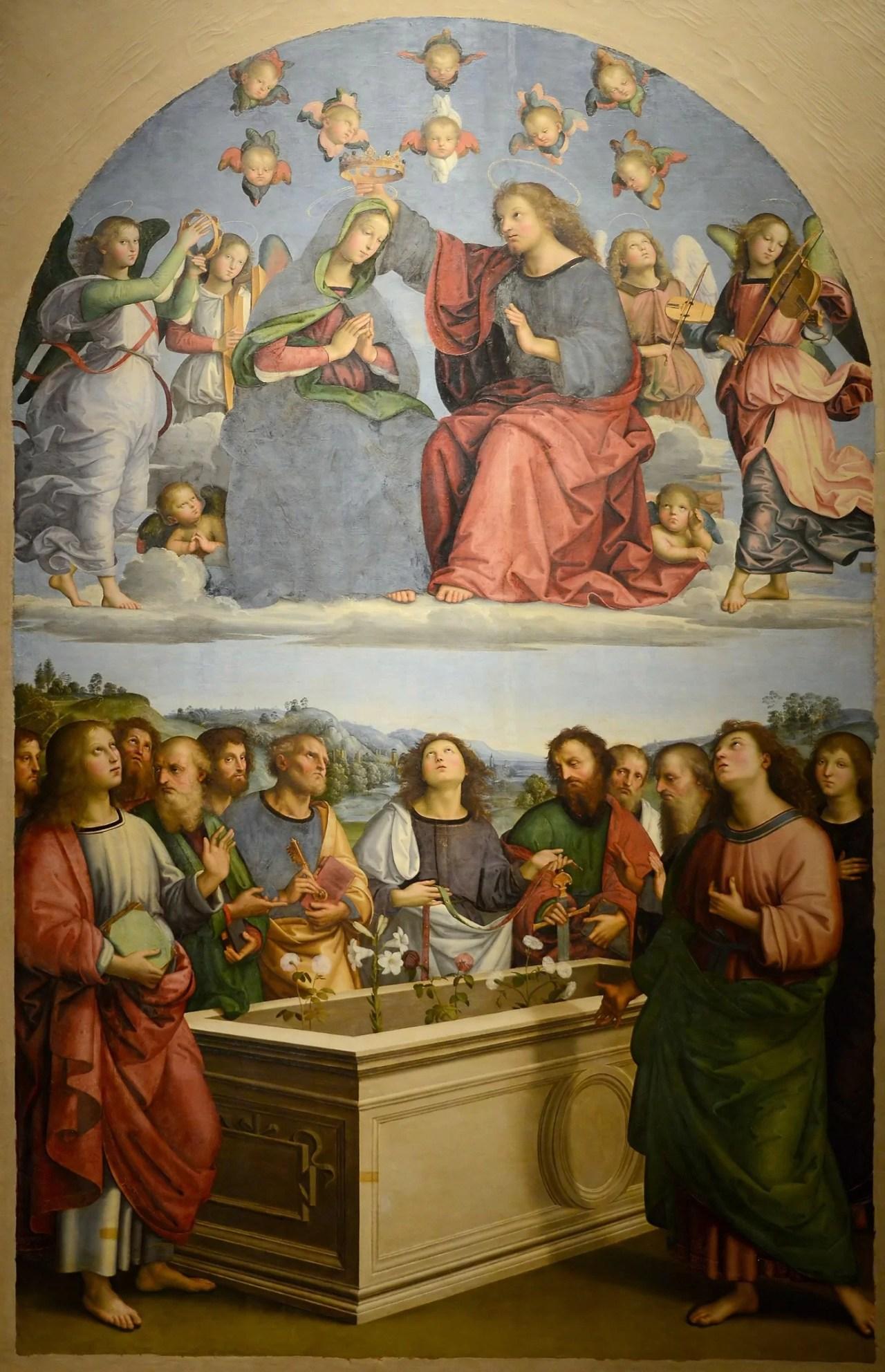 'Coroação da Virgem' por Rafael. Cientistas encontraram o túmulo de Rafael