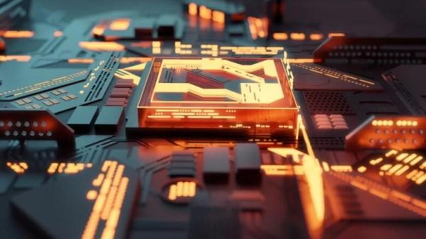 CPU futurista quântico