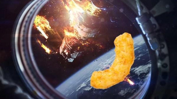 Cheetos na estação espacial ISS