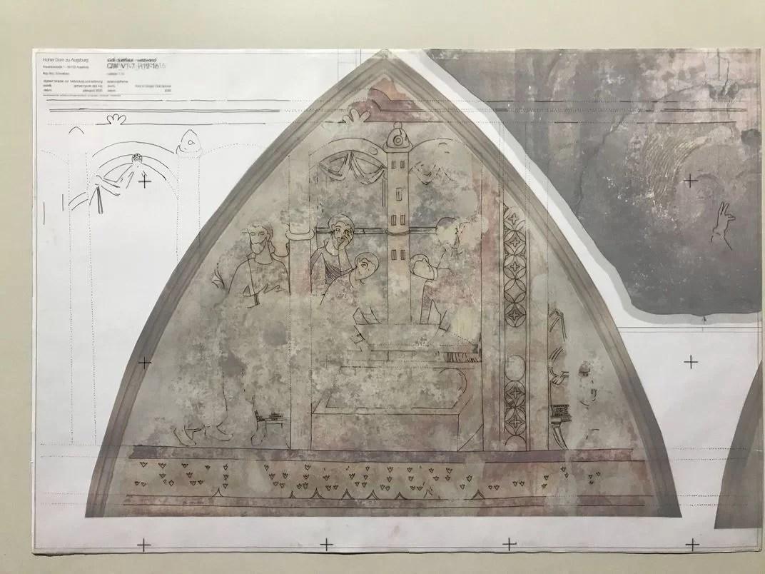 representação do mural há 1.000 anos