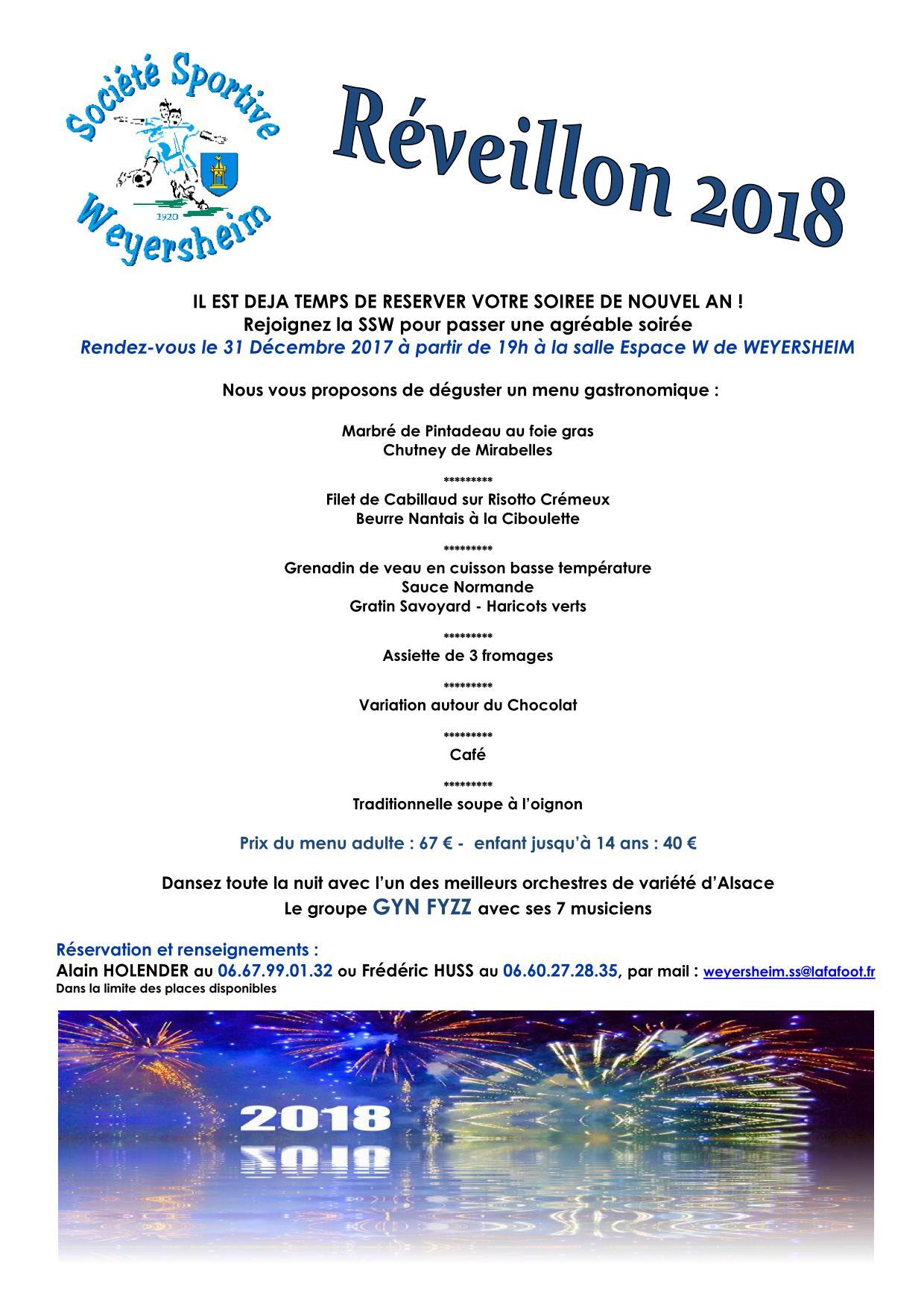 Nouvel An 2017 2018 Passez La St Sylvestre Avec La Ssw La