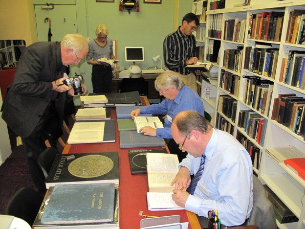 SHA members study in the Sir Robert Ball Library, BMI