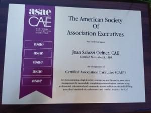 CAE designation obtained in November 1998.