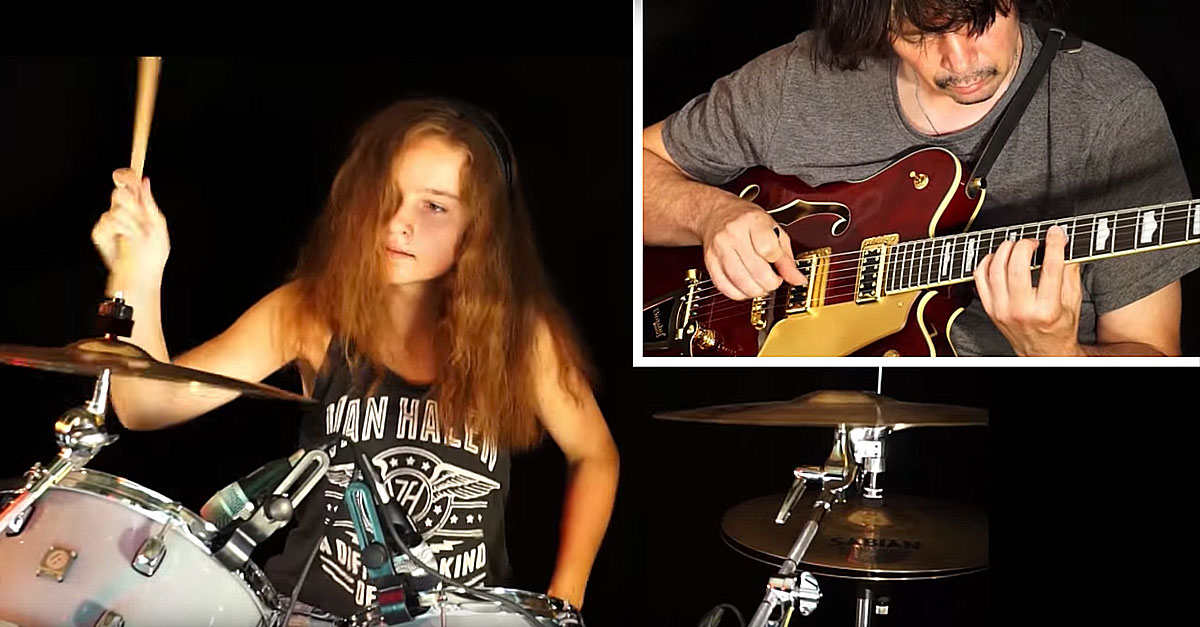 Surfs Up Teen Drumming Sensation Joins Her Dad For Rockin Cover Of The Surfaris Wipe Out