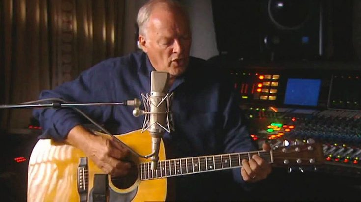 "David Gilmour's Acoustic Take On This Pink Floyd Classic Is So Gorgeous, You Might Forget To ""Breathe"" 