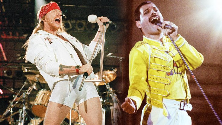 Axl Rose Joins Queen On Stage For High Octane Tribute To Freddie Mercury With We Will Rock You