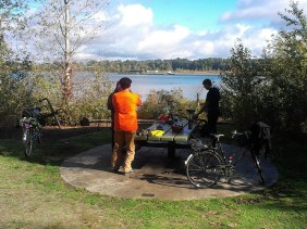 Brew-up at Kelley Point Park.