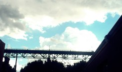 St Johns Bridge from Occidental Brewing