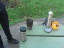Tom's titanium stove.