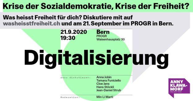 Event flyer, Bern Progr, 21.09.202., 19h30