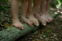 Feet Walking Barefoot
