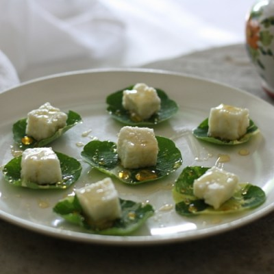 Paneer Cheese and Fresh Herb Hors d'oeuvres