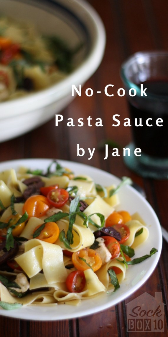 No Cook Pasta Sauce by Jane