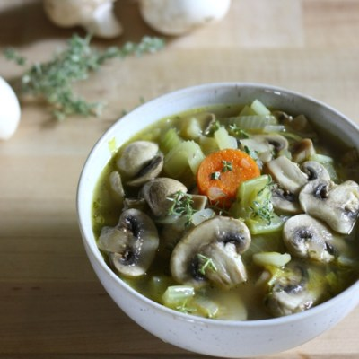 Wild and Healthy Mushroom Soup
