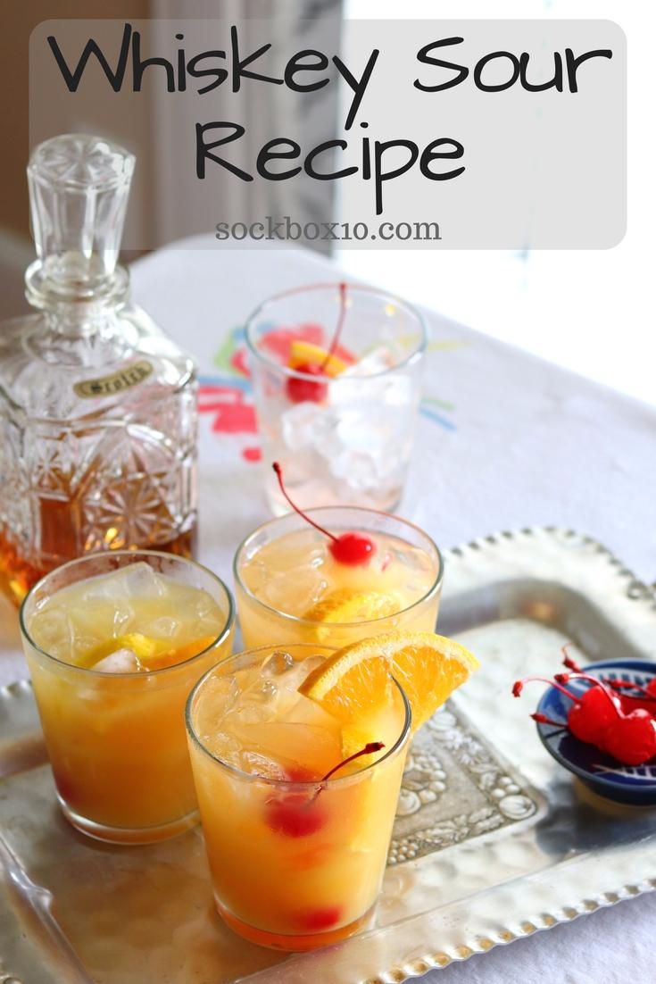 Whiskey Sour Recipe sockbox10.com