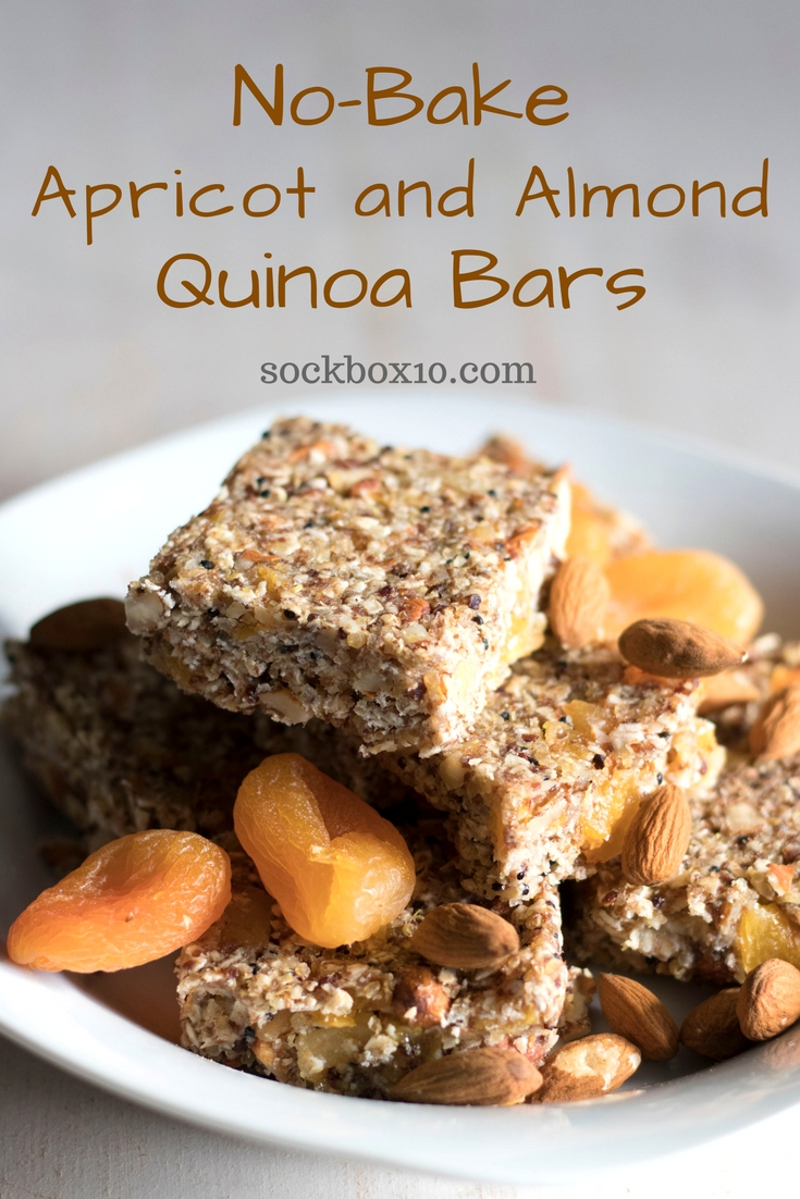 No-Bake Apricot and Almond Quinoa Bars sockbox10.com