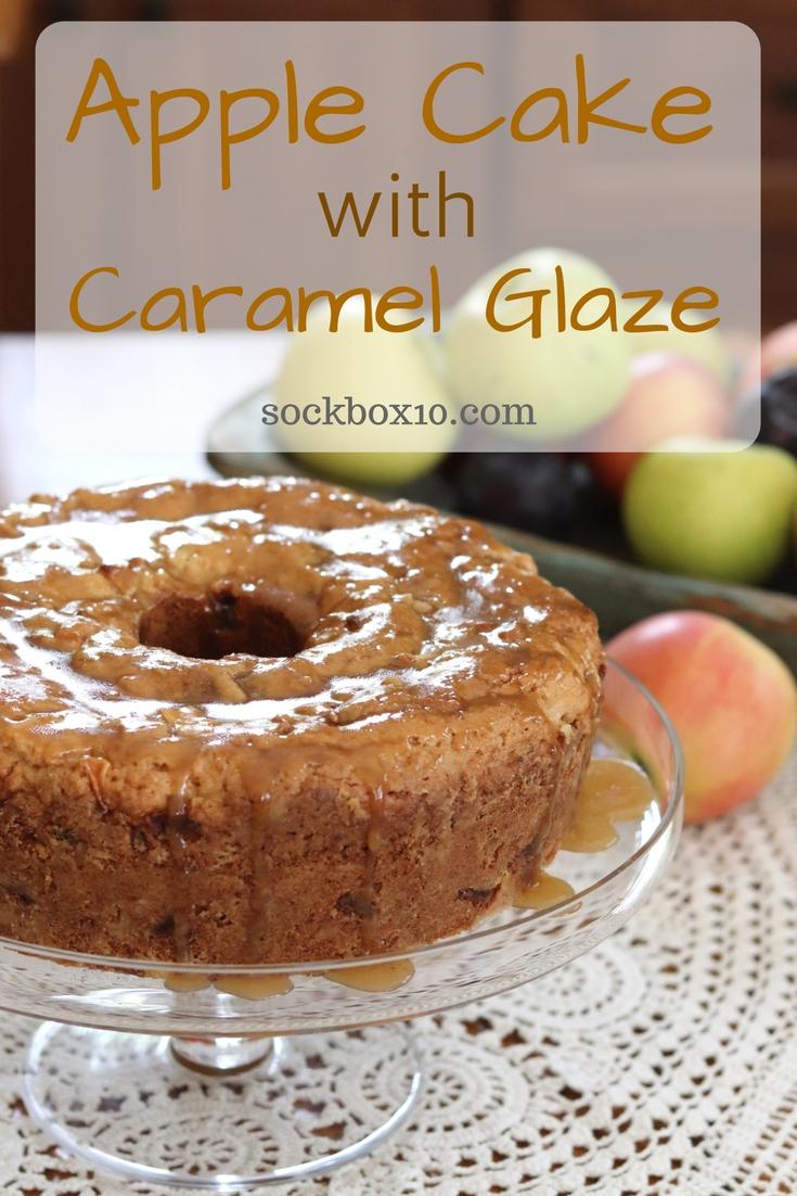 Apple Cake with Caramel Glaze - Sock Box 10