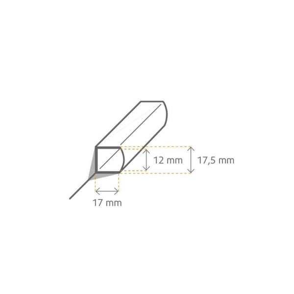 LED Aluprofil für Sockelleiste Skizze