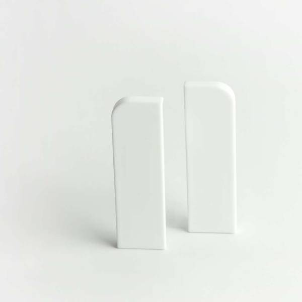 zwei Endkappen Köln weiß