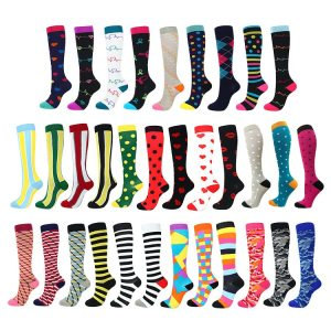 multi color compression socks