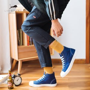 solid clor men socks