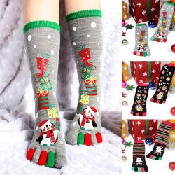 christmas toes socks