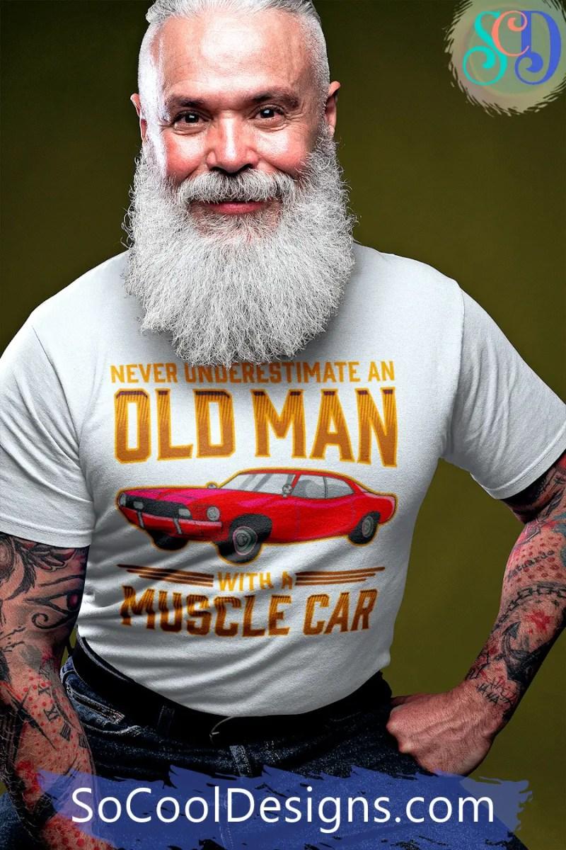 Old Man Muscle Car T-Shirt