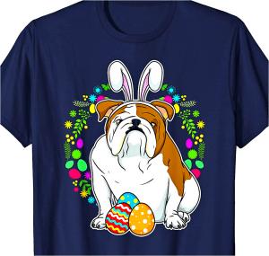 Adorable Easter Bulldog Bunny