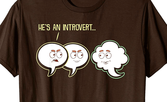 He's An Introvert T-Shirt