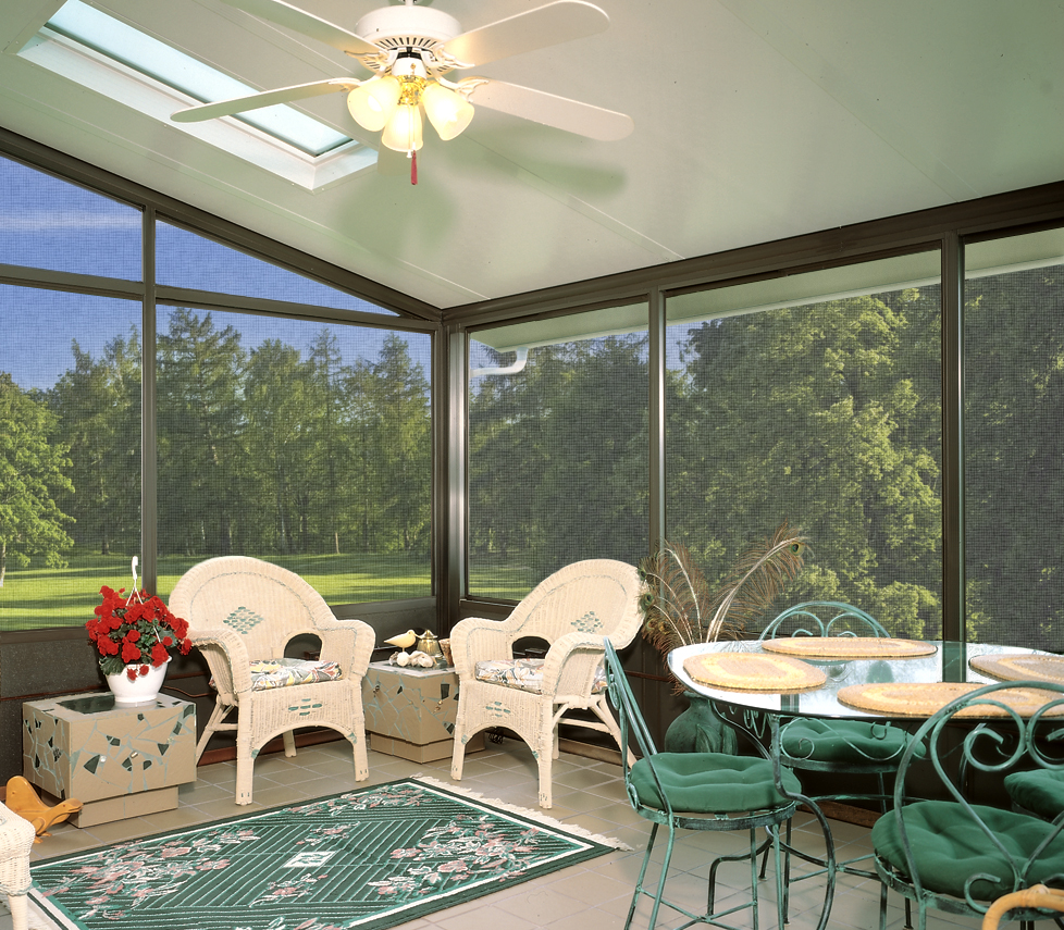 Interior Screen Room with Skylights