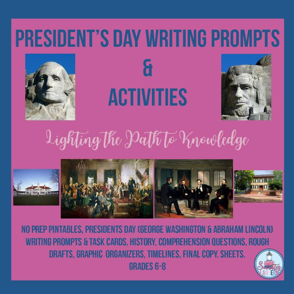 President's Day Writing Prompts & Activities