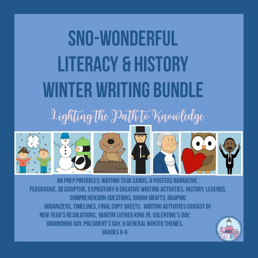 Sno-Wonderful Literacy/History Winter Writing Bundle