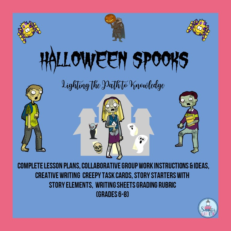 Halloween Spooks Creative Writing Activity for Middle School